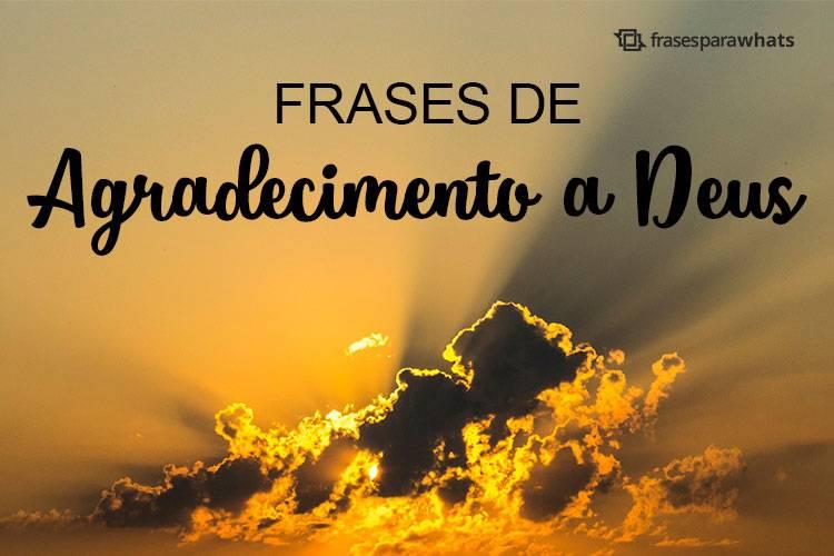 Frases de Agradecimento a Deus