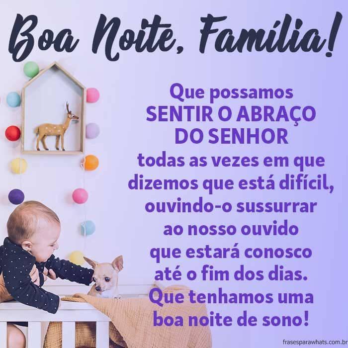 Mensagem de Boa Noite para Família