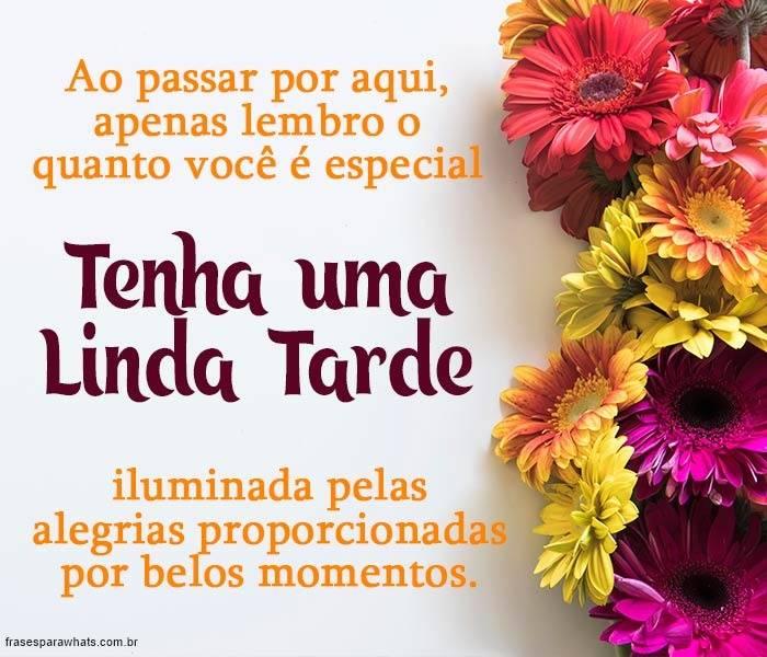 Tenha uma Linda Tarde!
