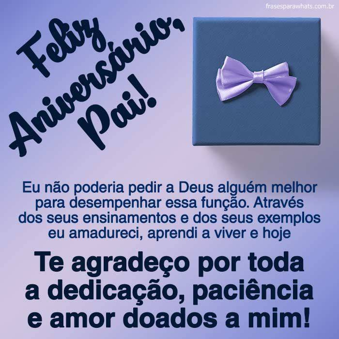 Mensagem de Aniversário Para Pai