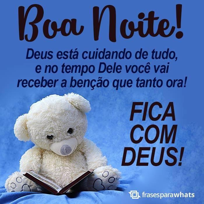 Boa noite fica com Deus