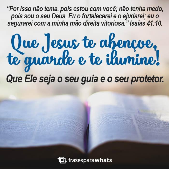 Que Jesus Te Abençoe e Te Guarde