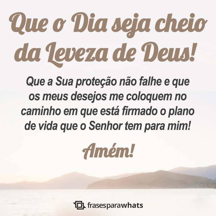 Que o Dia seja Cheio da Leveza de Deus