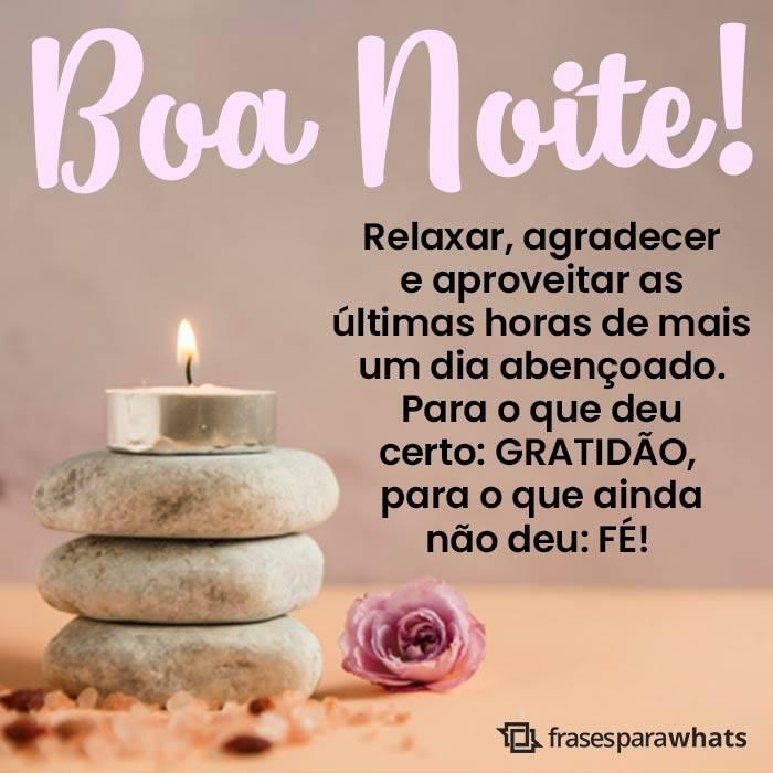 Boa Noite, Relaxe e Agradeça!