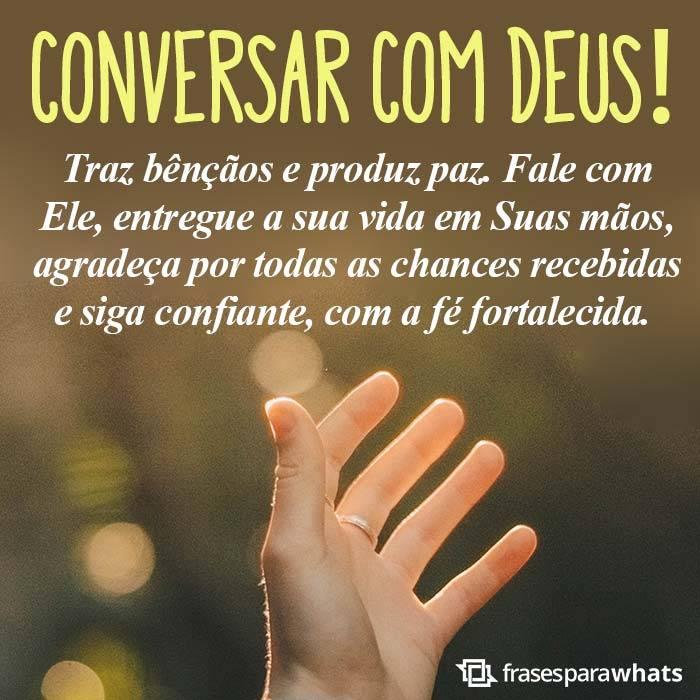 Conversar com Deus é Bênção