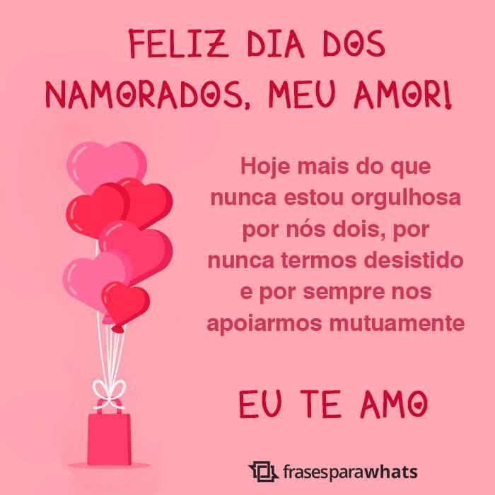 Feliz Dia Dos Namorados Te Amo Frases Para Whats