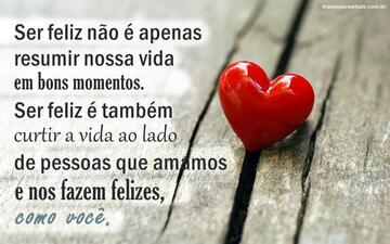 Felicidade no Amor!