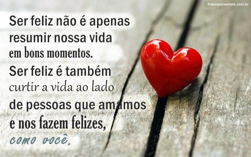 Felicidade No Amor Frases Para Whatsapp