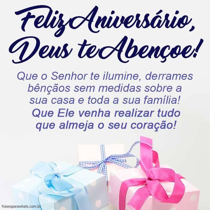 Feliz Aniversário, Deus te Abençoe!