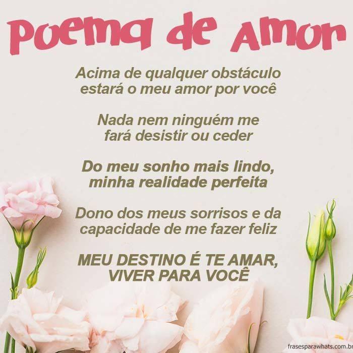 Poema De Amor Para Namorado Frases Para Whatsapp
