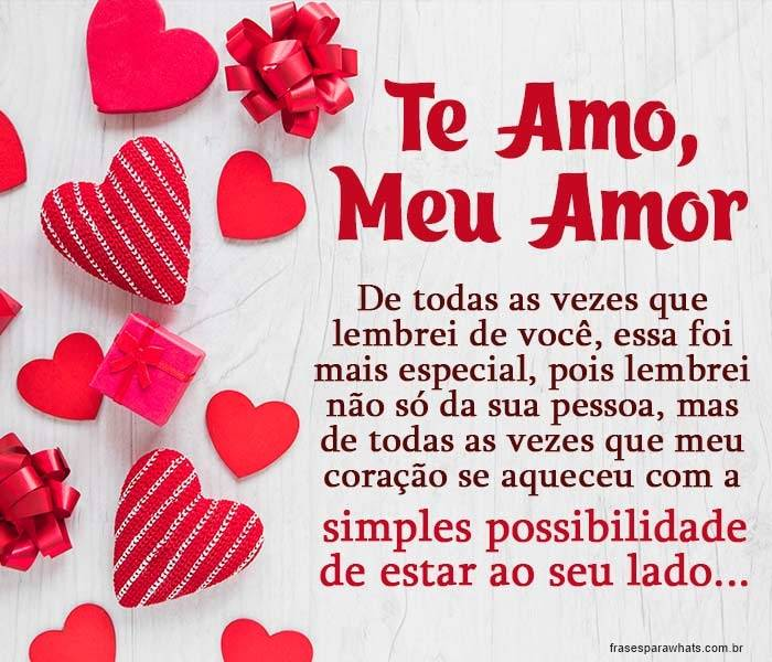Te Amo, Meu Amor