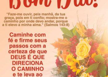 Mensagem evangélica de bom dia