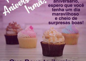 Mensagem de aniversário para irmã