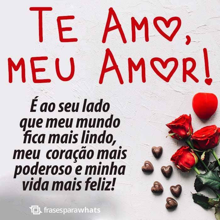 Te Amo Meu Amor Frases Para Whatsapp