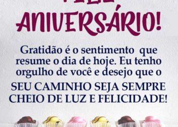 Feliz Aniversário muita Felicidade