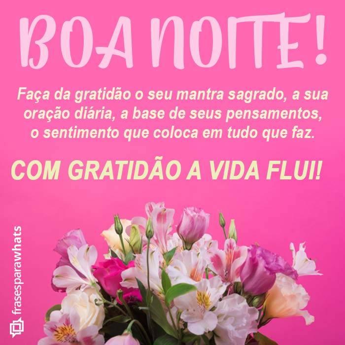 Boa Noite, Gratidão deve ser seu Mantra