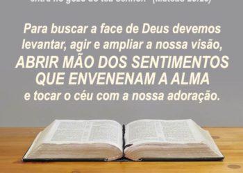 Seja Fiel, Busque a Face do Senhor