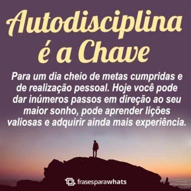 Autodisciplina é a Chave 4