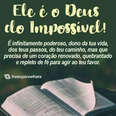 Ele é o Deus do Impossível 1