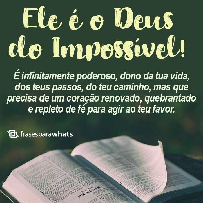 Ele é o Deus do Impossível